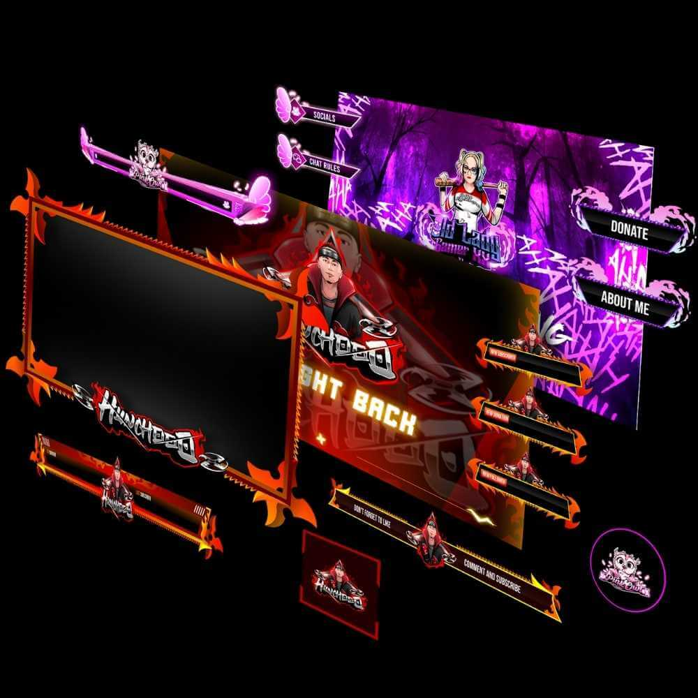 Twitch Stream Overlays And Panels